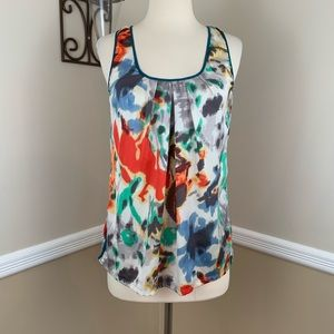 Fei Liquid Bouquet Floral Watercolor Tank Top